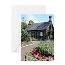 Bluestone Cottage with English Garde Greeting Card