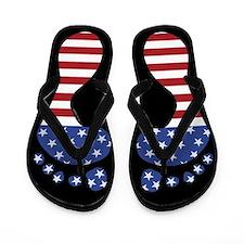 Patriotic Funny Feet Flip Flops