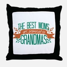 Promoted to Grandma Throw Pillow