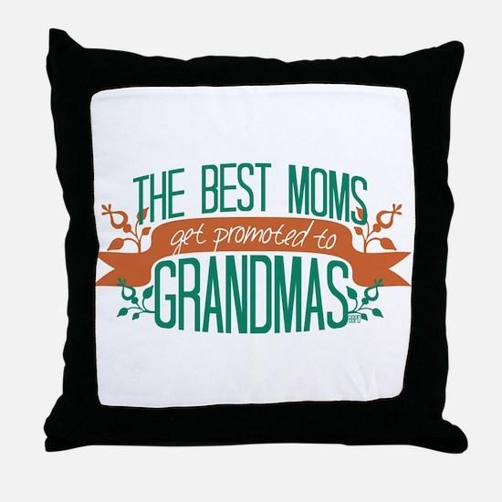 Promoted to Grandma Throw Pillow