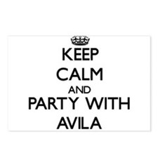 Keep calm and Party with Avila Postcards (Package