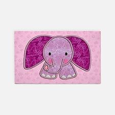 Purple Elephant 3'x5' Area Rug