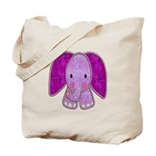 Purple Elephant Tote Bag