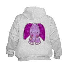 Purple Elephant Hoodie