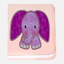 Purple Elephant Baby Blanket