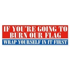 Flag Burner (bumper) Bumper Bumper Sticker