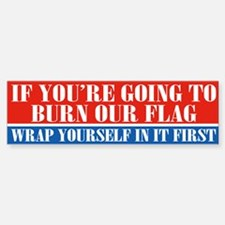 Flag Burner (bumper) Bumper Car Car Sticker
