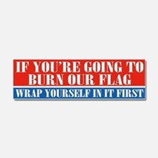 Flag Burners Car Magnet 10 X 3