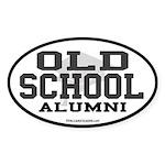 Old School Alumni Oval Sticker
