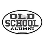 Old School Alumni Oval Sticker