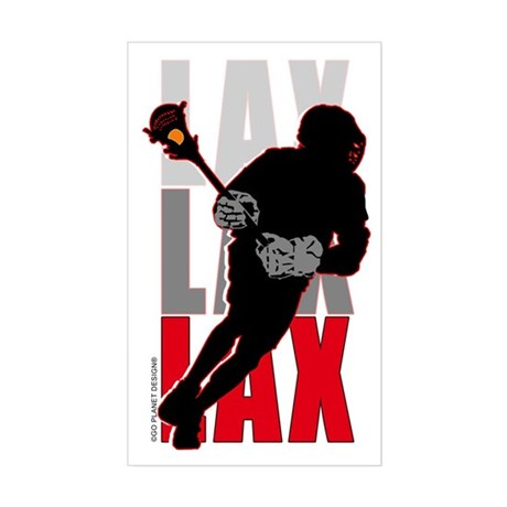 LAX Rectangle Sticker