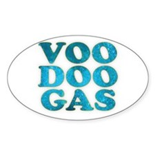 VooDoo Gas Oval Decal