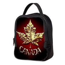Gold Canada Souvenir Neoprene Lunch Bag