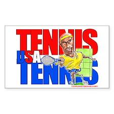 Tennis USA Rectangle Decal