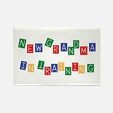 New Grandma In Training Rectangle Magnet