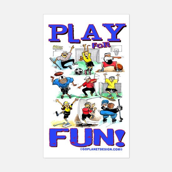 Play For FUN! Rectangle Decal