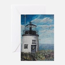 Owls head light Greeting Card
