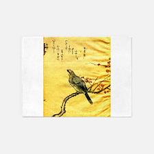 Thick Billed Shrike 5'x7'Area Rug