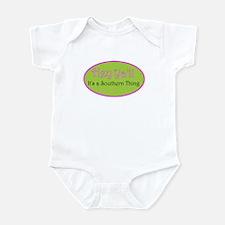 hey Ya'll pinkgreem Infant Bodysuit