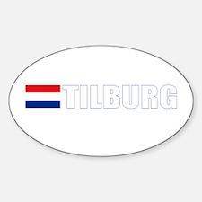 Tilburg, Netherlands Oval Decal