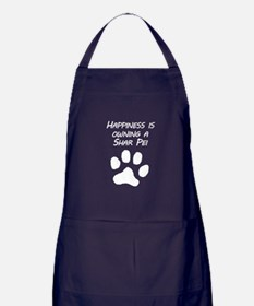 Happiness Is Owning A Shar Pei Apron (dark)