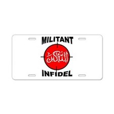 MILITANT Aluminum License Plate
