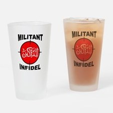 MILITANT Drinking Glass