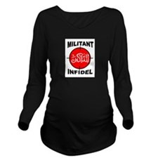 MILITANT Long Sleeve Maternity T-Shirt