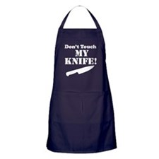 Don't Touch My Knife Apron (dark)