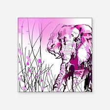 "pink elephant Square Sticker 3"" x 3"""