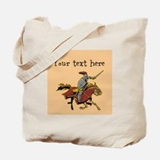 Customizable Knight on Horse Tote Bag