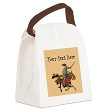 Customizable Knight on Horse Canvas Lunch Bag