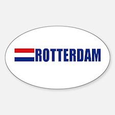 Rotterdam, Netherlands Oval Decal