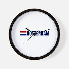 Rotterdam, Netherlands Wall Clock