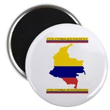 "Map Colombia es pasion 2.25"" Magnet (10 pack)"