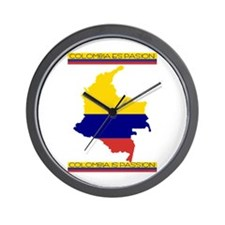 Map Colombia es pasion Wall Clock