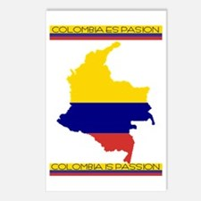 Map Colombia es pasion Postcards (Package of 8)