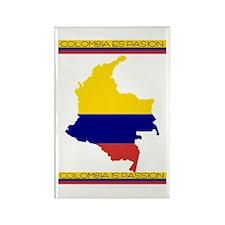 Map Colombia es pasion Rectangle Magnet
