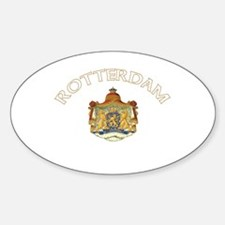 Rotterdam, Netherlands Oval Decal