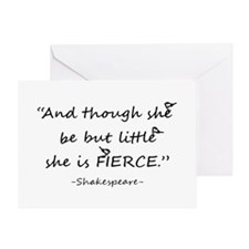 Little But Fierce Shakespeare Quote Greeting Cards