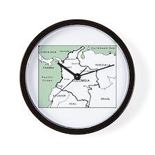 Mapa de Colombia Wall Clock