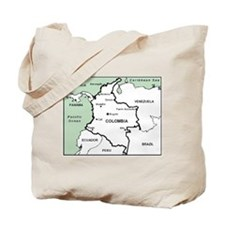 Mapa de Colombia Tote Bag