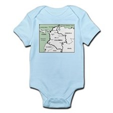 Mapa de Colombia Infant Bodysuit