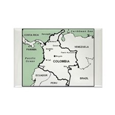 Mapa De Colombia Rectangle Magnet Magnets
