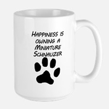 Happiness Is Owning A Miniature Schnauzer Mugs