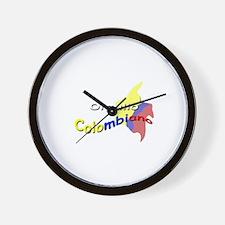 Colombian pride Wall Clock