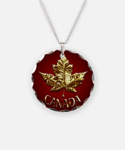 Gold Canada Souvenir Necklace