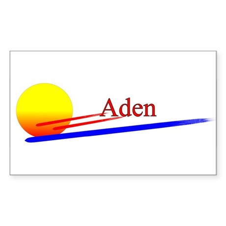 Aden Rectangle Sticker