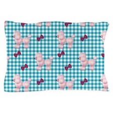Pink Poodles And Bows Pillow Case