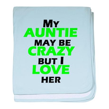 My Crazy Auntie baby blanket